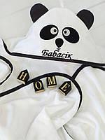 Детское банное полотенце панда
