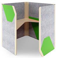 Кабина офисная Cabi фетр серый /фетр зеленый  черный графит TM AMF