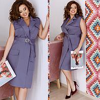 Летнее платье с поясом, с 48-58 размер, фото 1