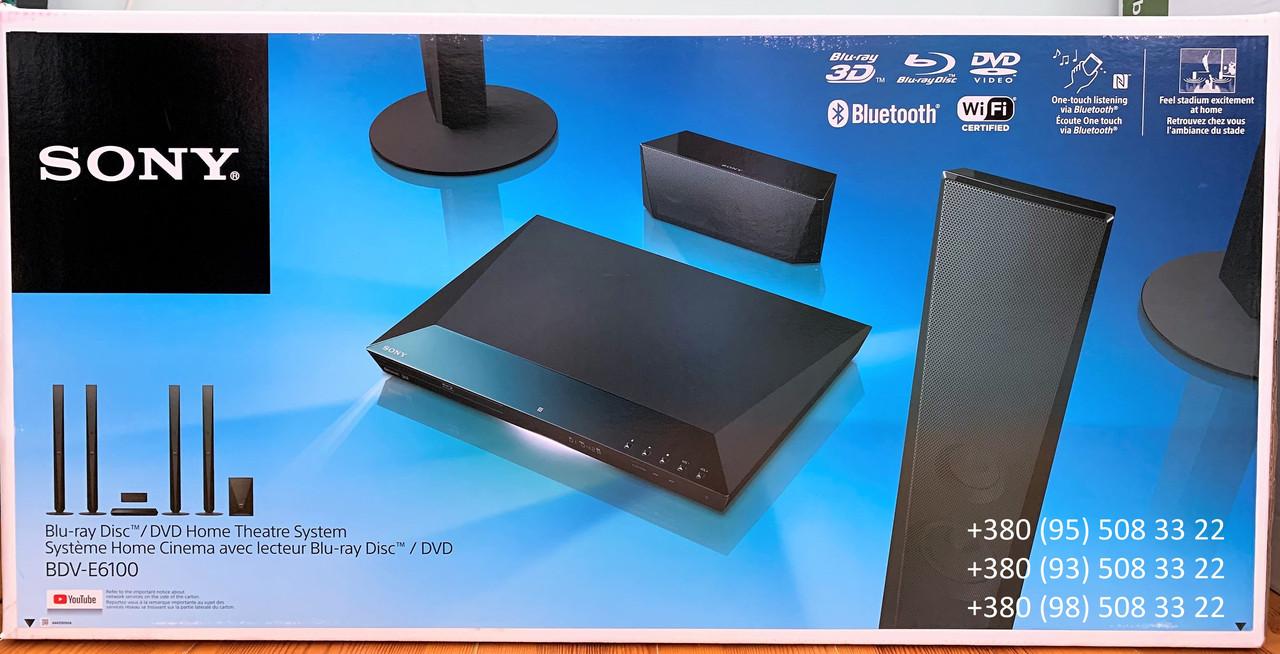 Домашний кинотеатр Sony BDV-E6100 (5.1, 1000 Вт, Blu-ray с поддержкой Bluetooth, Wi-Fi)