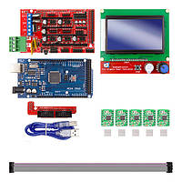 Набір для 3d принтера CNC верстата 3D Printer Kit for Arduino RAMPS 1.4 Arduino Mega 2560 R3 New, фото 1