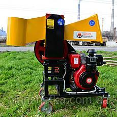 """Измельчитель веток с дизельным двигателем 14 л.с. диаметр веток 120 мм """"Shkiv 2В120Д"""" , фото 3"""