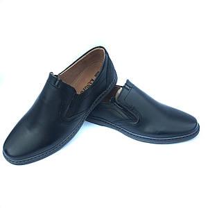 Черные туфли Kangfu без шнурков