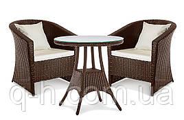 Комплект садовой мебели из ротанга искусственного Barselona (Барселона): столик и 2 кресла