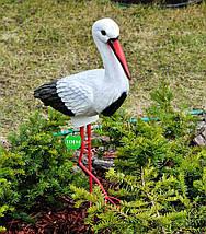 Садовая фигура Аист средний на металлических лапах керамический, фото 2