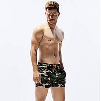 Мужские пляжные Короткие шорты для купания Seobean камуфляж (Карман) \ Чоловічі Короткі шорти пляжні, фото 2