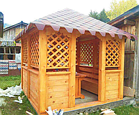 Деревянная беседка «Корал» 300х300 от производителя для сада и дома