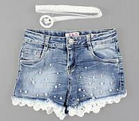Джинсовые шорты для девочек S&D, 4-12 лет. {есть:4 года,6 лет}