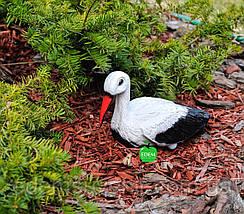 Садовая фигура Аист для гнезда малый, фото 2
