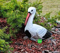 Садовая фигура Аист для гнезда средний, фото 3