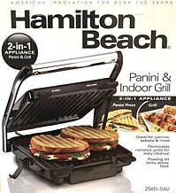 Электрический гриль (2 в 1) Hamilton Beach (барбекю-электрогриль)