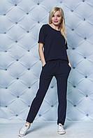 Костюм женский с брюками темно-синий, фото 1