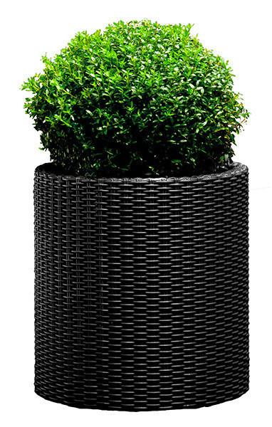 Горшок для цветов 39 л. Cylinder Planter Large, серый