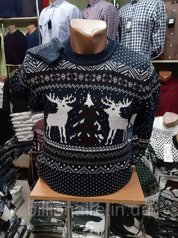Новорічний светр з оленем 5, фото 2