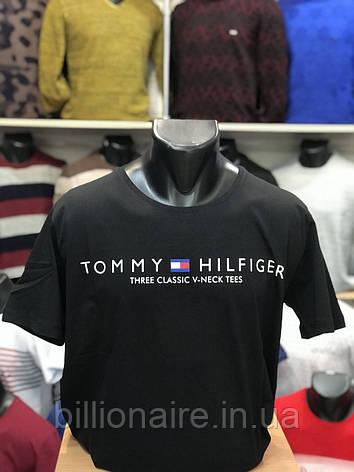 Футболка батальнаTommy Hilfiger Репліка Чорний, фото 2