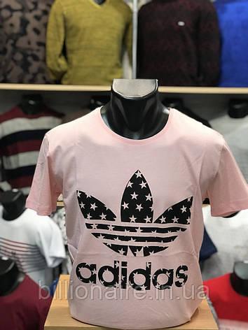 Футболка Adidas Репліка Рожевий, фото 2
