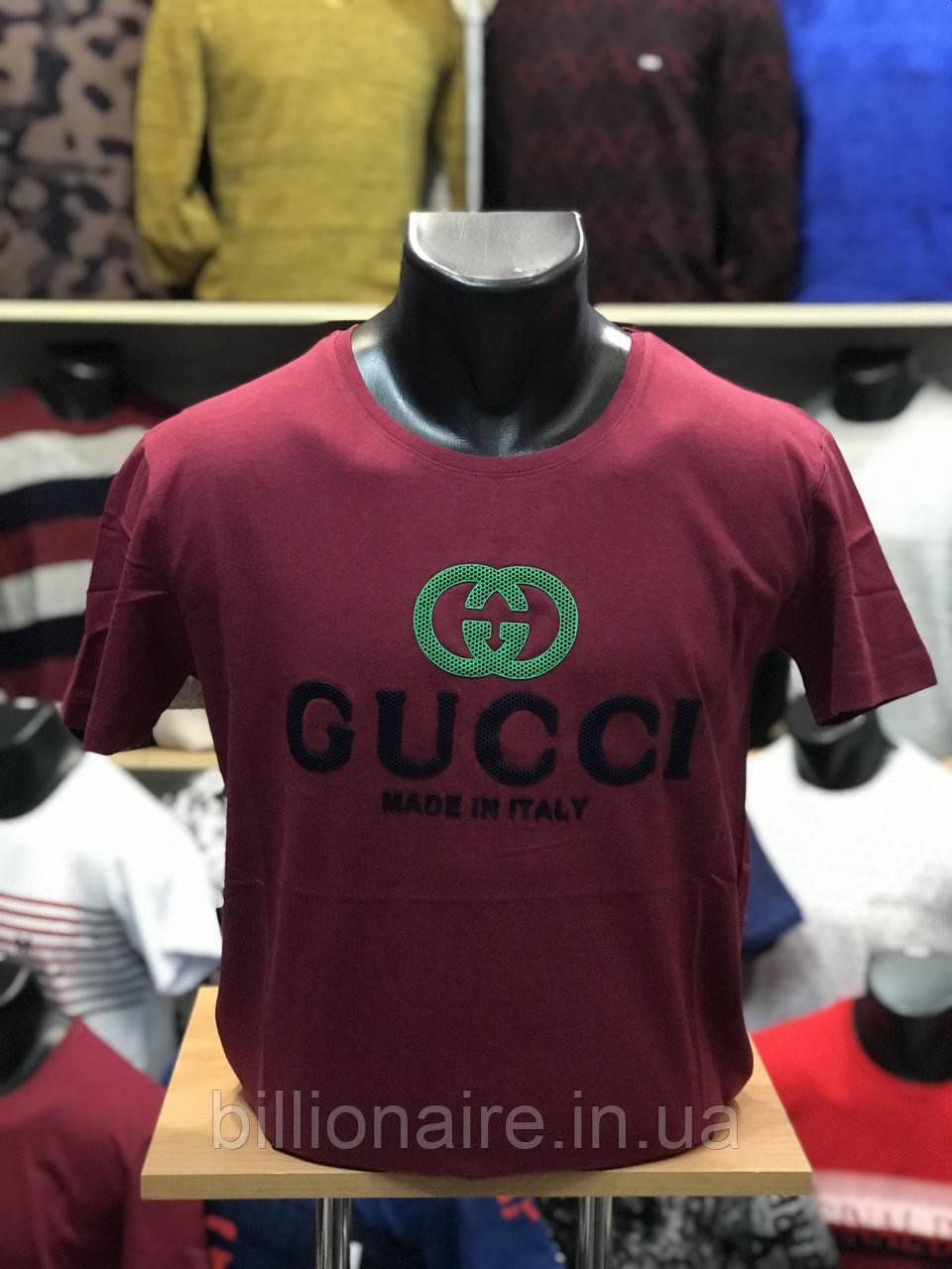 Футболка Gucci Репліка 2 Бордо