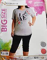 """Женская пижама большого размера """"Nicoletta"""" №84223 (капри)"""
