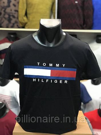 Футболка Tommy Hilfiger Репліка Чорний, фото 2