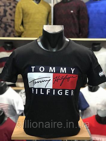 Футболка Tommy Чорний, фото 2