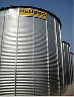 Металлические силоса с плоским дном для хранения зерна
