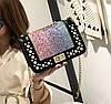 Елегантна глянсова сумка клатч з блискітками, стразами та камінням, фото 3