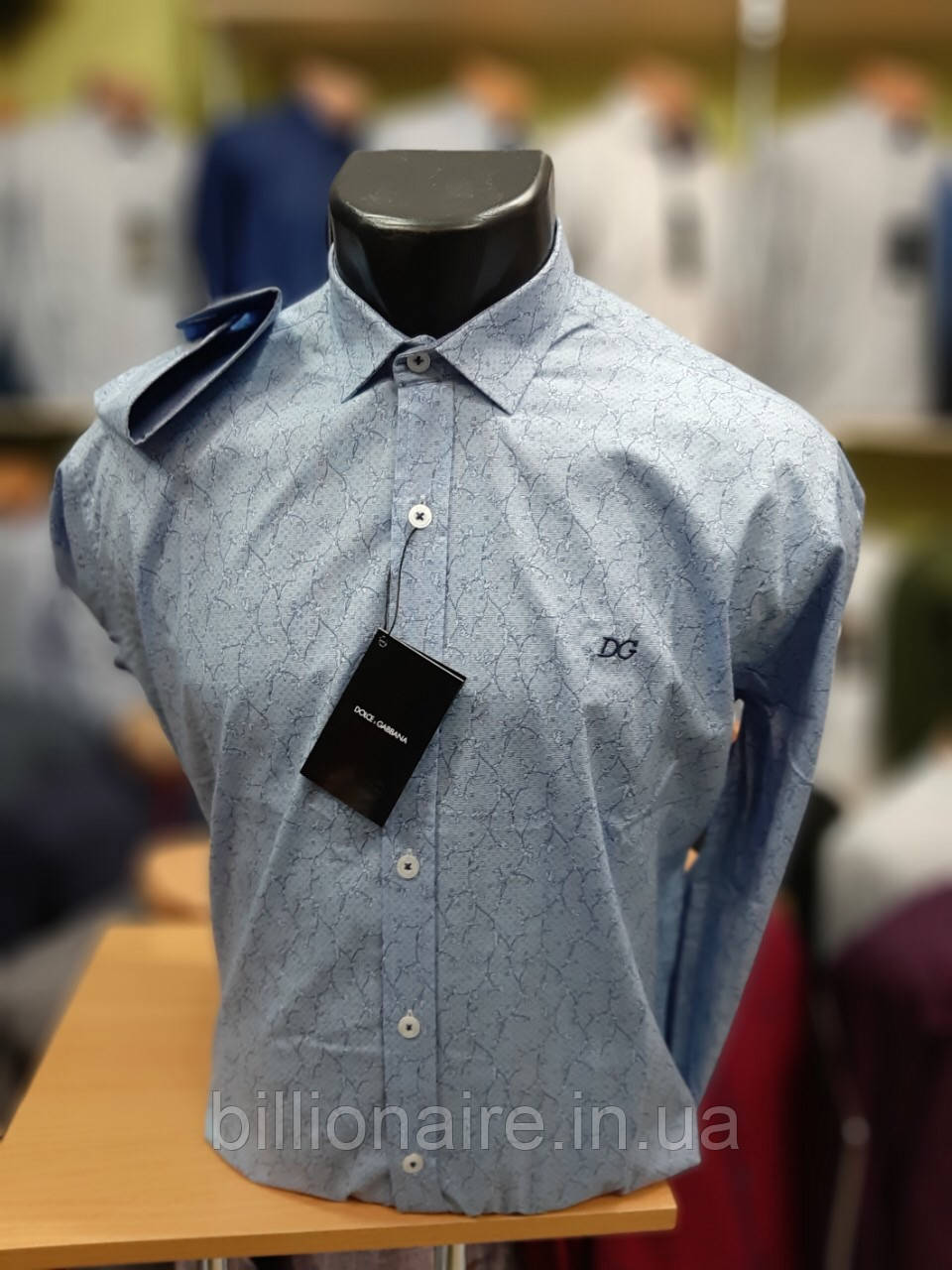 Сорочка D&G Блакитний репліка