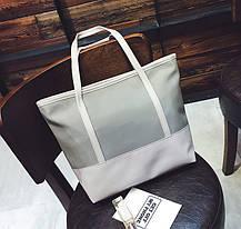 Стильная повседневная сумка шоппер, фото 3
