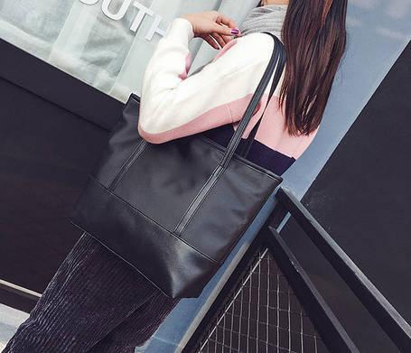 Стильная повседневная сумка шоппер, фото 2