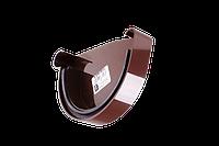 Заглушка желоба левая 130 мм. Водостоки пластиковые Profil
