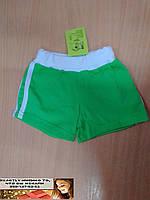 Трикотажные  летние шорты для девочки от 2 до 5 лет