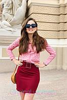Короткая юбка-карандаш на лето в расцветках 2JU208, фото 1