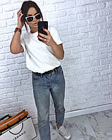 Свободная женская футболка со спущенным плечом 3FU188, фото 1