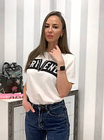 Женская летняя футболка с надписью Friend 33FU196, фото 1