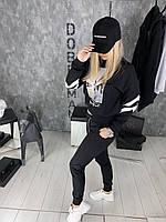 Свитшот женский Anasnan D1974 черный, фото 1