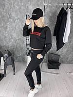 Свитшот женский Balenciaga D2034 черный, фото 1