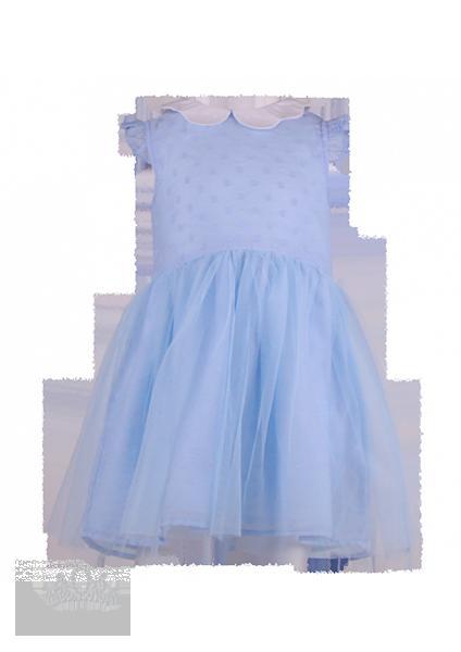 Нежно-голубое нарядное платье для девочки