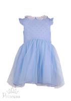 Нежно-голубое нарядное платье для девочки, фото 1