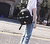 Элегантный набор с брелком мишкой 3в1, рюкзак сумка визитница, фото 5