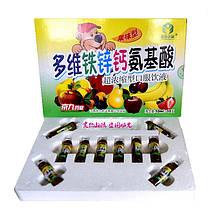 Дитячий фруктовий комплекс Цинк, Кальцій і амінокислоти (10х10 мл)