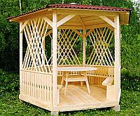 Деревянная беседка «Мечта» 250х250 от производителя для сада и дома