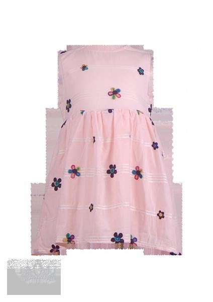 Хлопковое платье с цветами для девочки