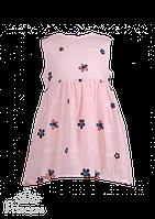 Хлопковое платье с цветами для девочки, фото 1