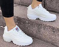 Кроссовки женские Fila D1696 белые, фото 1