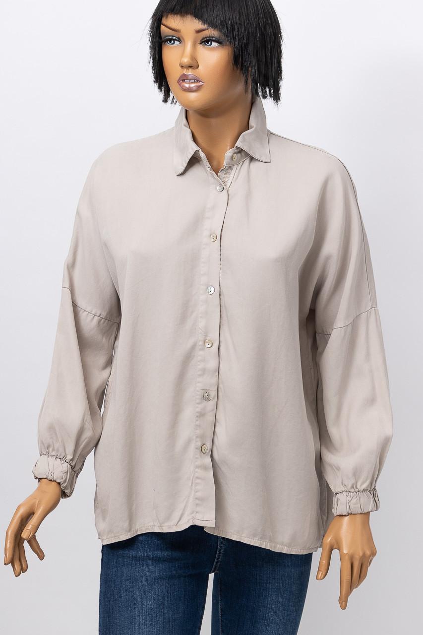 Рубашка с длинным рукавом женская MIHOS 3518 BEJ