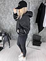 Ветровка женская Balenciaga D2033 черная, фото 1