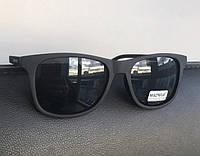 Очки черные матовые Matrius 19442 с широкой линзой и ребристой дужкой, фото 1