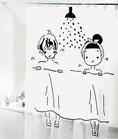Шторка для ванной комнаты 180х180см.