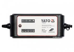 Зарядний прилад електронний ел./мереж.- 230 В YATO для акумуляторів 12 В, 2/8 А, 5-160 A х год