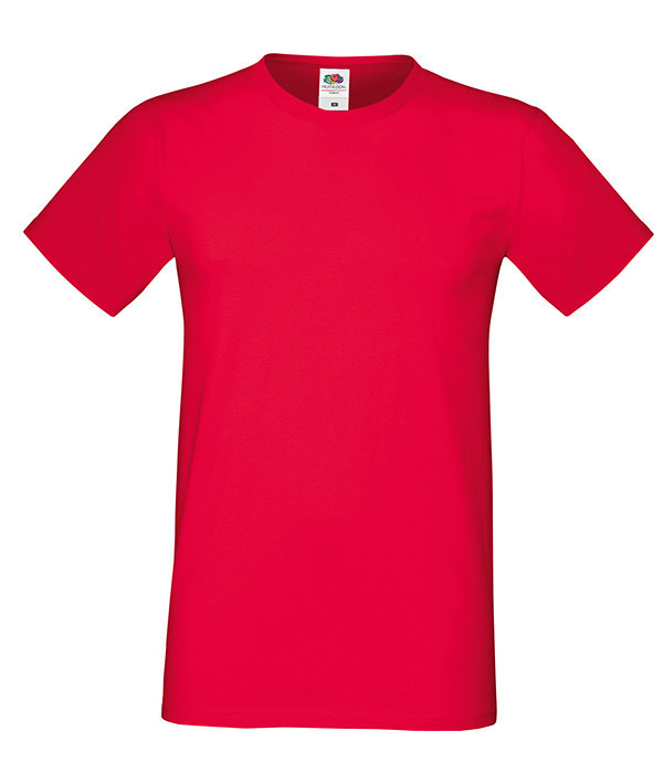 """Мужская футболка """"Хлопок"""" S, 40 Красный"""